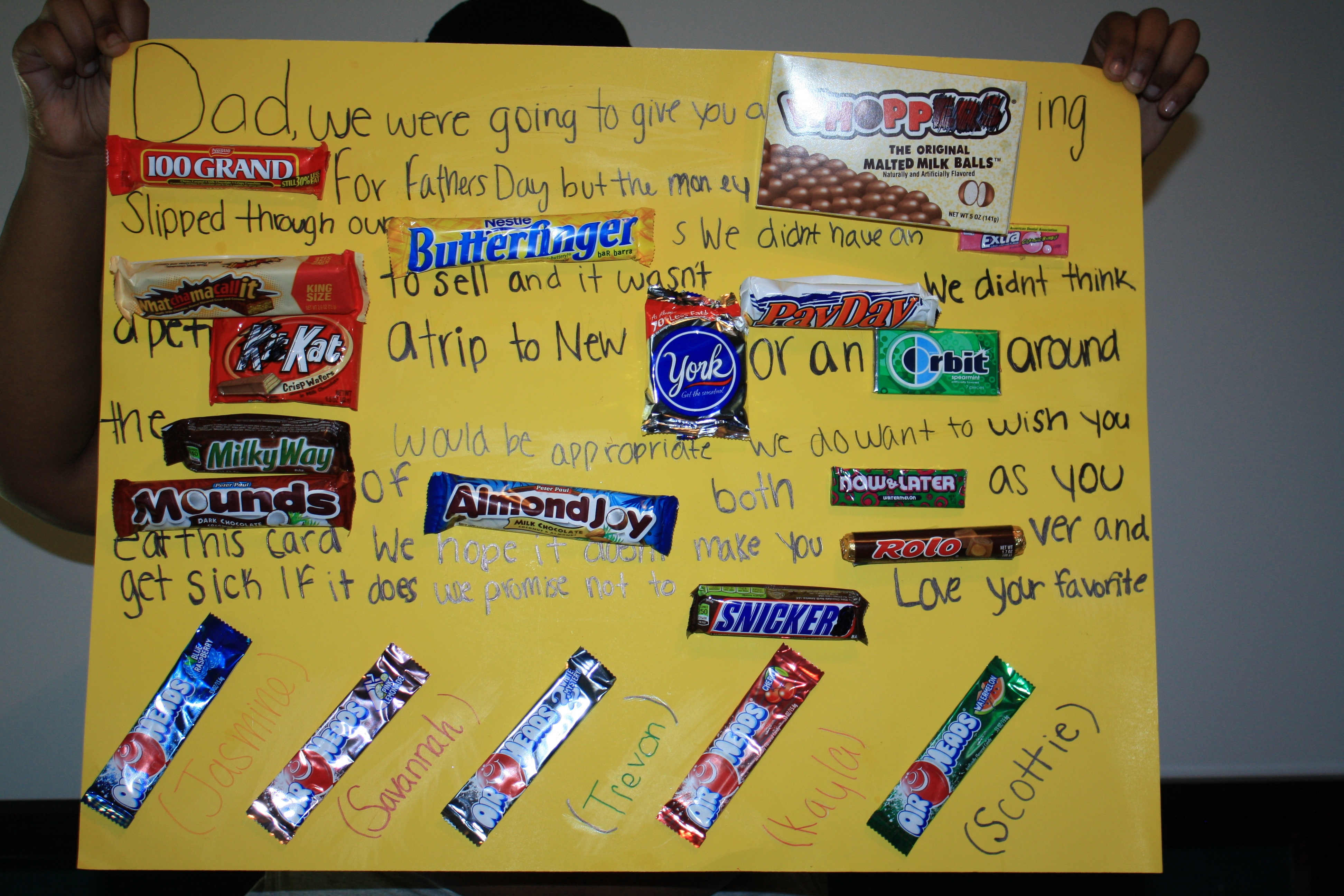 1StopMom - The Kids Made A Candy Poster For Father's Day ...