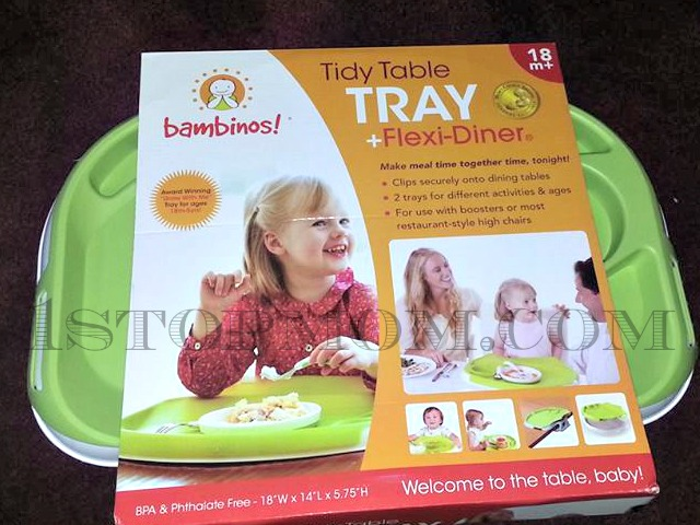 Make meal time easier with the BAMBINOS! TIDY TABLE TRAY FLEXI-DINER
