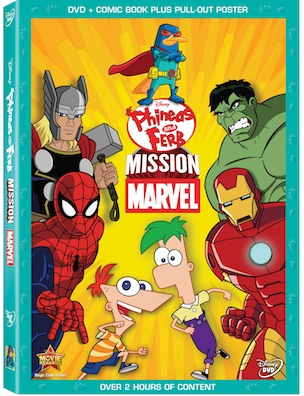Phineas and Ferb Marvel Mission is a great movie with bonus episodes of the Disney Show. Fun for the entire family