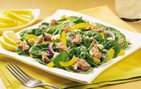 lemon tuna spinach salad