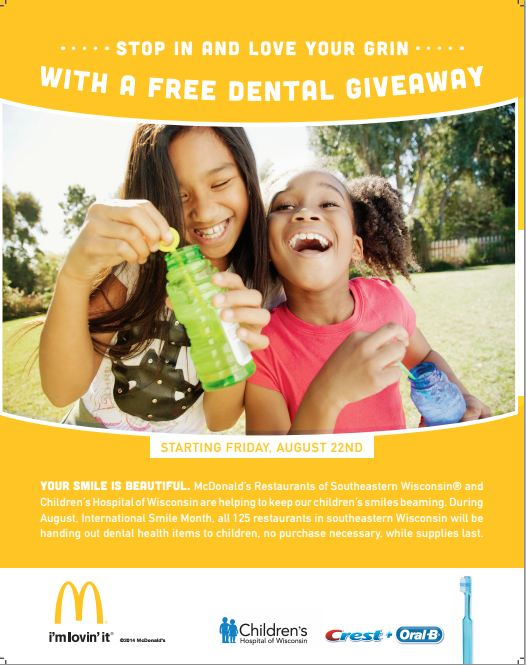 Children's Hospital of Wisconsin Dental Giveaway