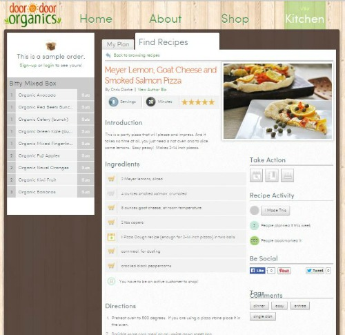 door to door organics kitchen