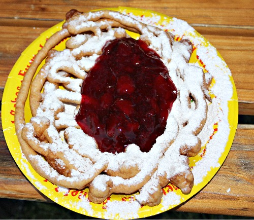 strawverry funnel cake