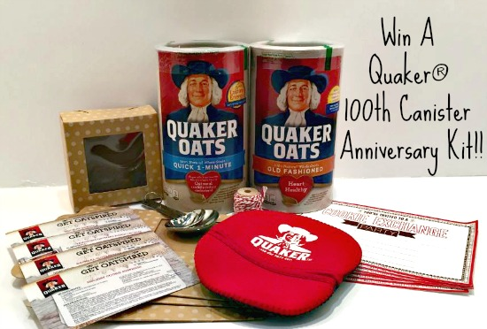 quaker 100th Canister anniversary kit giveaway