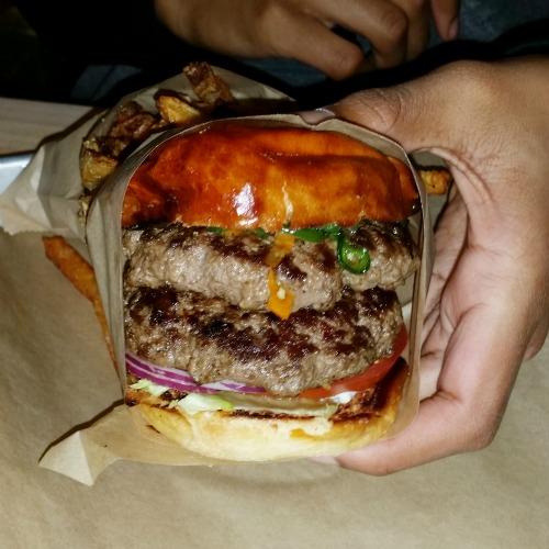 burger burger double blazing bison