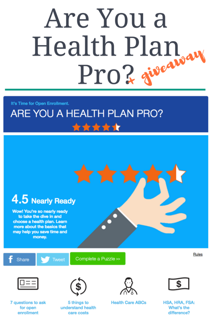 are you a health plan pro giveaway