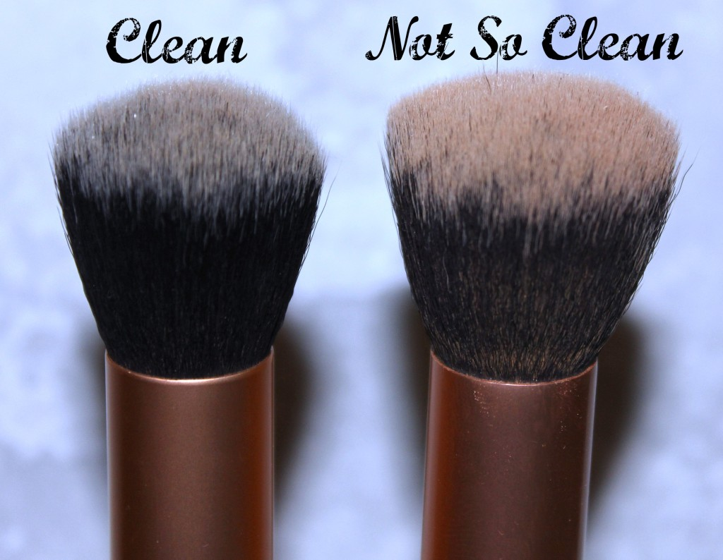 clean makeup brushes clarifying shampoo