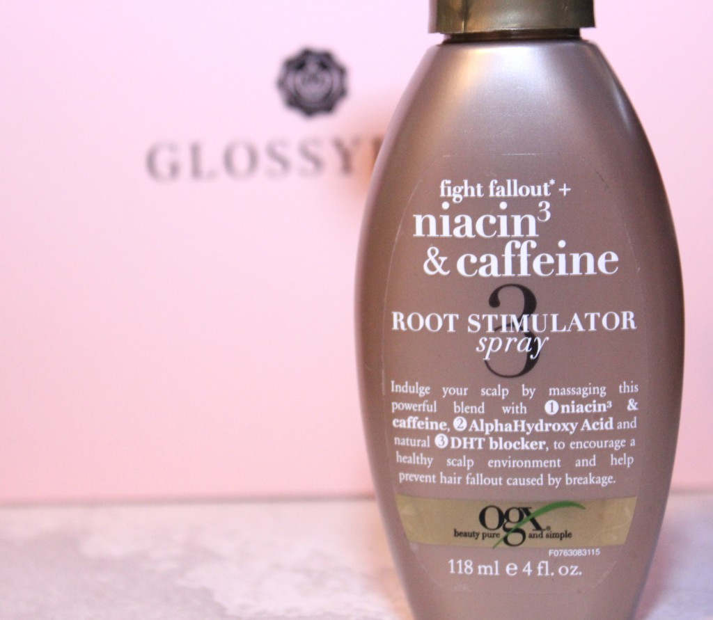 OGX root stimulator spray glossy box