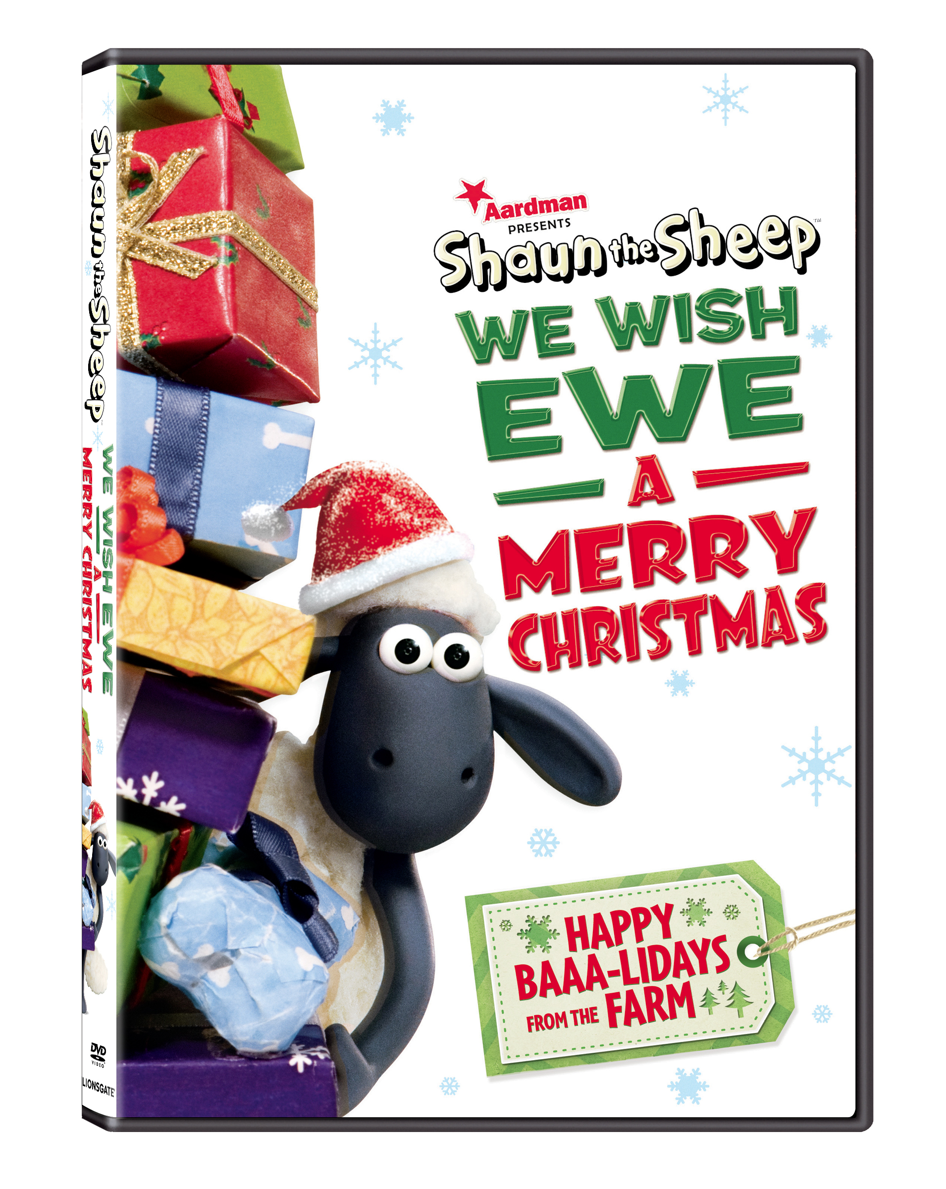 shaun the sheep we wish ewe a merry christmas