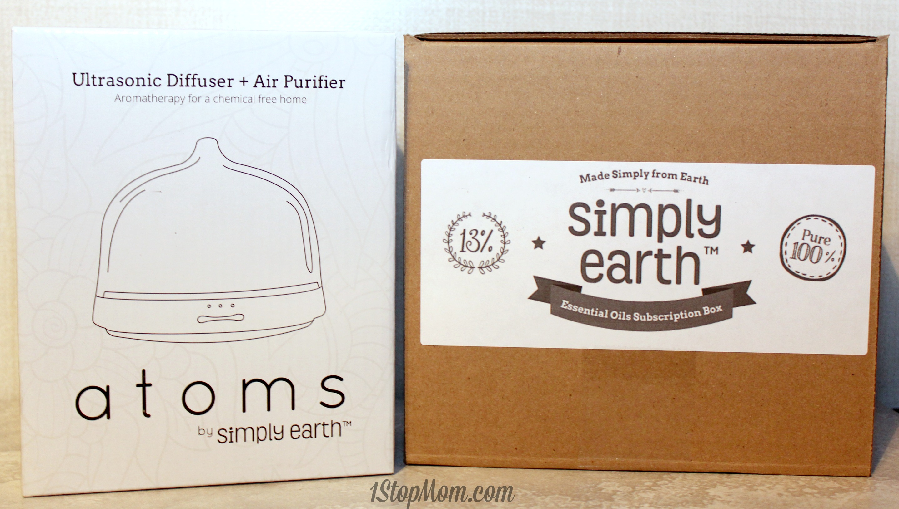 Simply Earth Diffuser and essential oils review