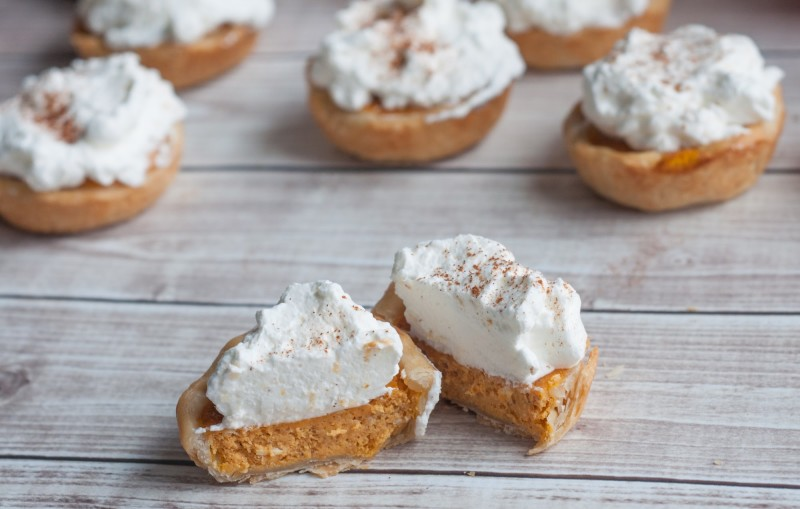 Nov 13,  · Baking Tips for Mini Pumpkin Pies. You'll need two pie crusts for this recipe, you can either use my homemade pie crust recipe (linked in the recipe below) or use store-bought. You can use any leftover pie crust you have to decorate the tops of the pies too! Be sure to use the correct size muffin pan for this recipe.5/5(1).