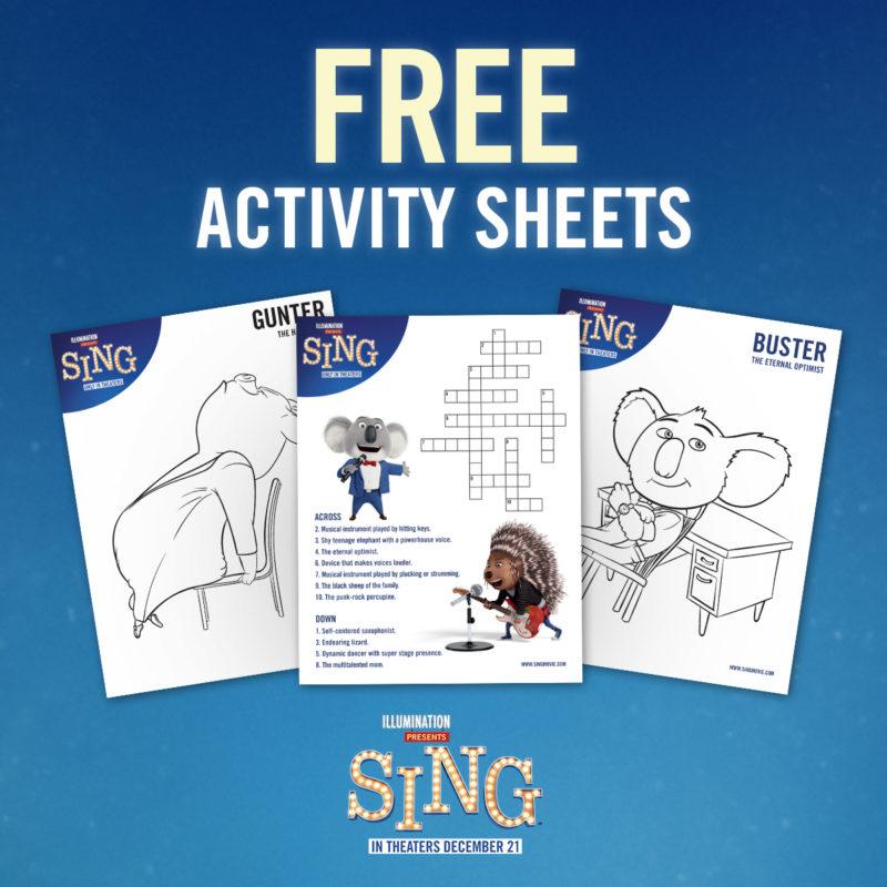 free sing printables