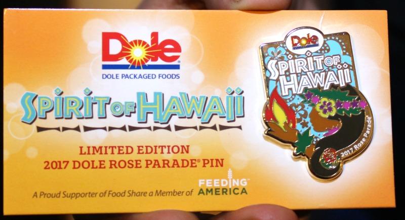 dole 2017 rose parade pin