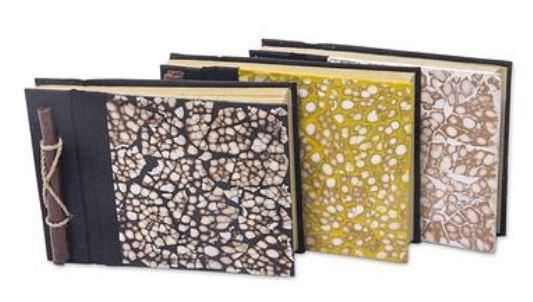 unique natural fiber journals