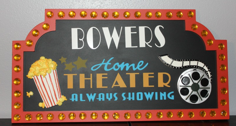 home theater sign