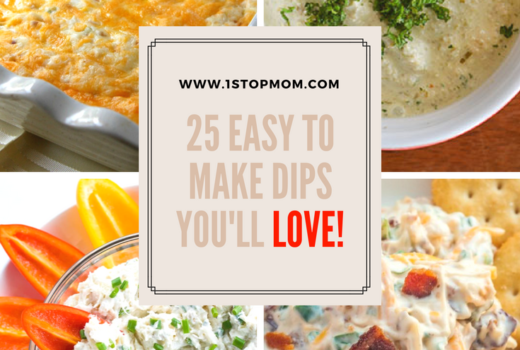 25 Easy To Make Dips