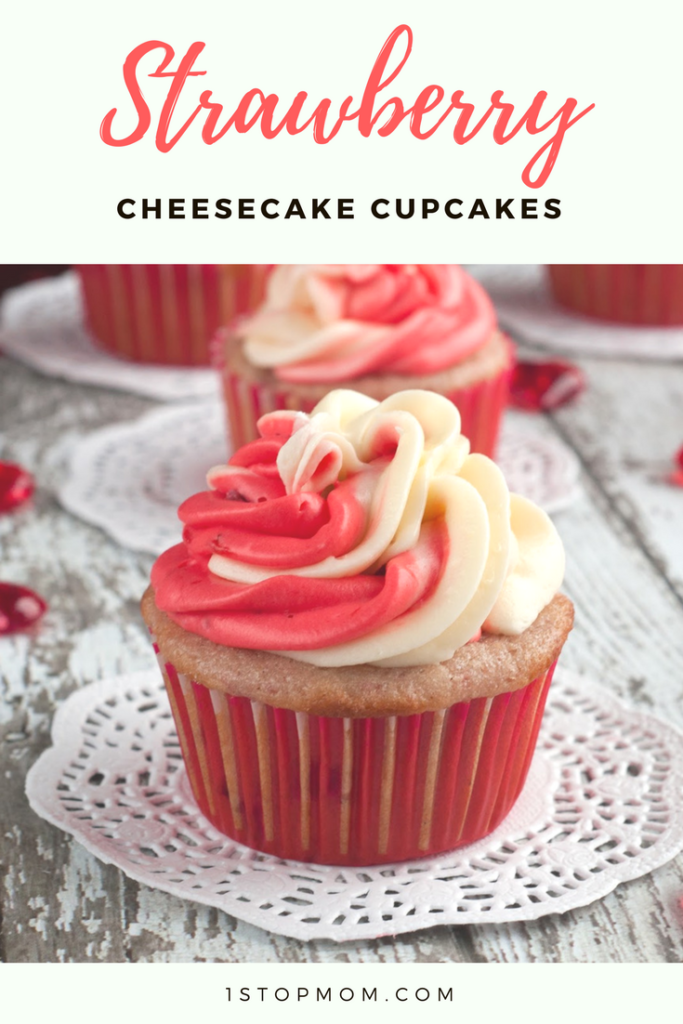 easy strawberry cheesecake cupcakes