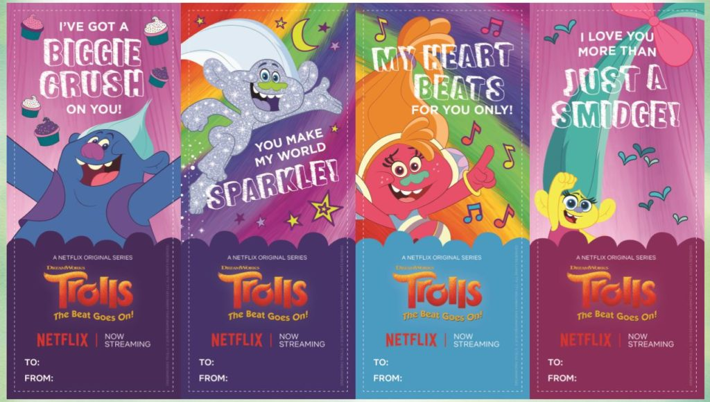 free trolls printable valentines day cards
