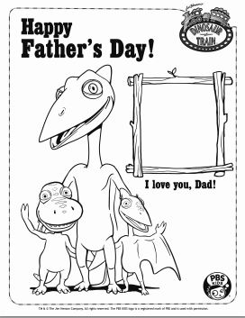 1stopmom print a free dinosaur train father 39 s day card 1stopmom. Black Bedroom Furniture Sets. Home Design Ideas
