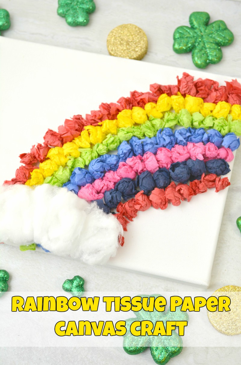rainbow paper craft 1stopmom rainbow tissue paper canvas craft 1stopmom 2809