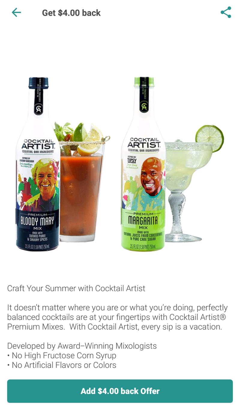 1StopMom - Walmart Ibotta Freebate: Cocktail Artist